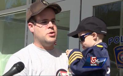 Siblings Battling Cancer Visit Holbrook PD, Parents Get Big Surprise