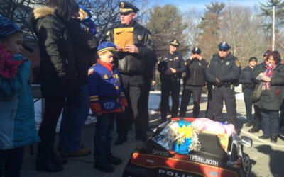 Tewksbury Police Partner with CFKWC to Brighten a Young Girl's Day