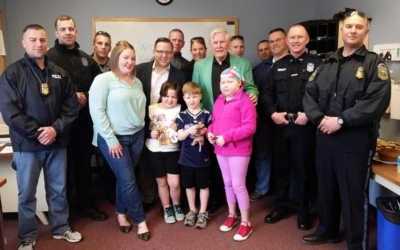 Cops for Kids with Cancer Helps Scituate Family