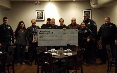 Sudbury Police Association & Local Restaurant donate over $11,000