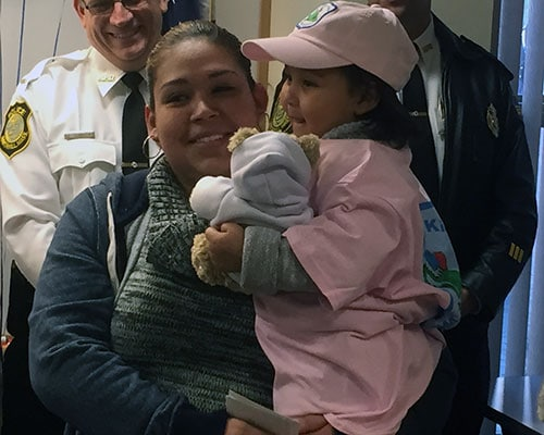 Three-Year-Old Cancer Patient Receives Special Police Welcome, Gifts