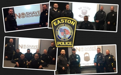 Easton cops grow beards to help children with cancer