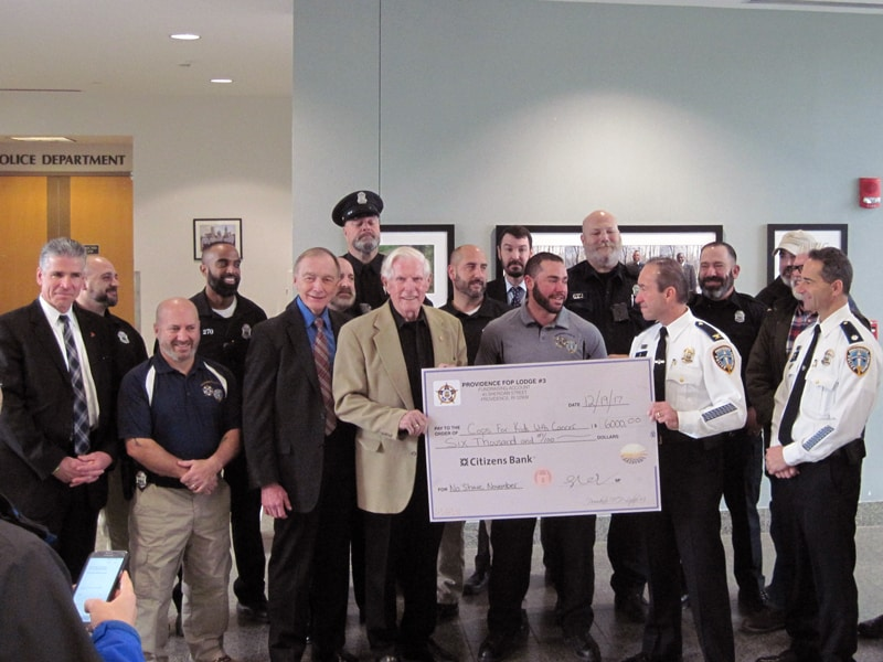 Providence Cops No Shave November Donation