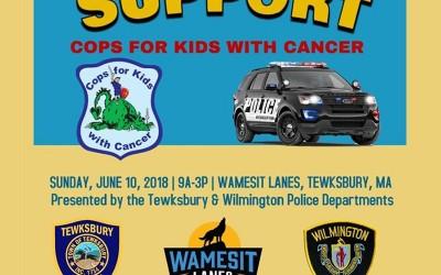 Bowlathon hosted by Tewksbury & Wilmington PDs @ Wamesit Lanes | Tewksbury | Massachusetts | United States