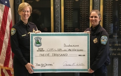 Deputy Superintendent Pauline Wells (Cambridge PD.) $12,000 donation
