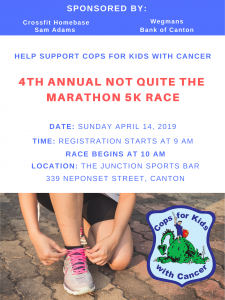 4th Annual Not Quite The Marathon 5K Race @ The Junction Sports Bar | Canton | Massachusetts | United States