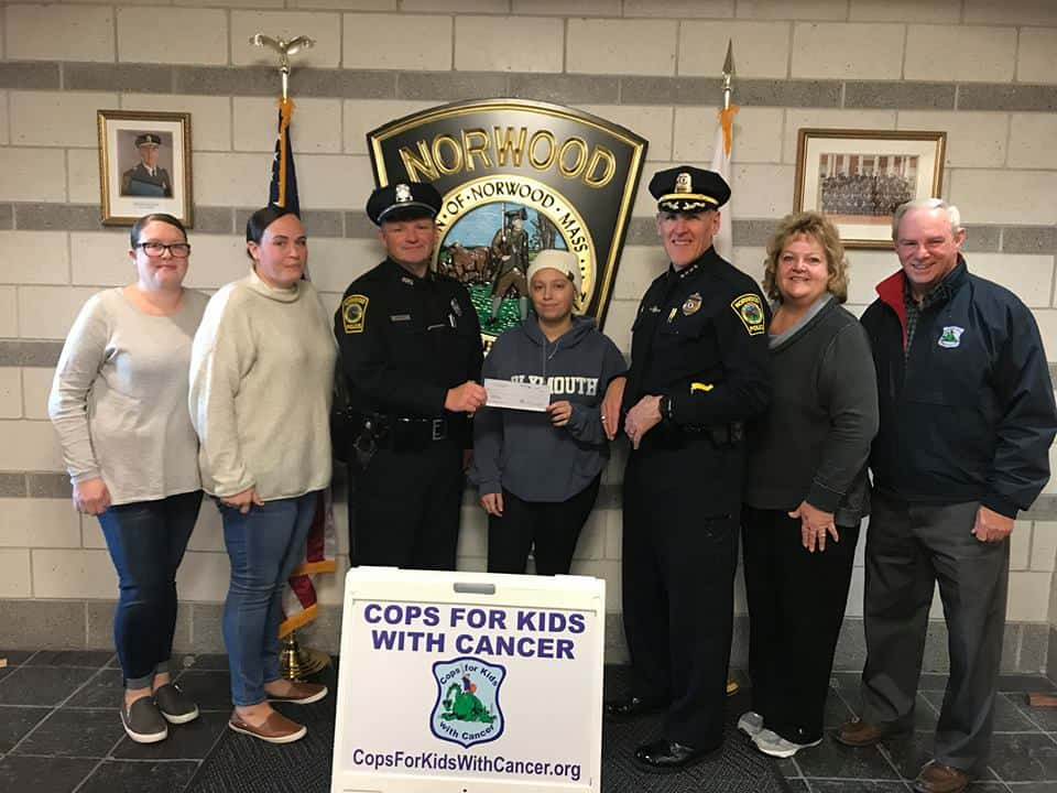 Donation to Natalia Donnelly at Norwood Police Department