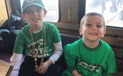 Gloucester boys ride in St. Patrick's parade in Boston