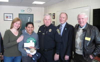 CFKWC gave $5,000 to Gabriel Sanchez at Hopkinton Middle School