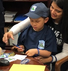 Everett Police Department Donation to 5-year-old Sergio Ivan Gill