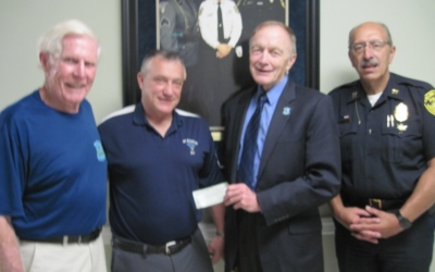 Falmouth Police Department. Mass. State Police Sergeant John Kotfila Gives $10,000.00 Donation