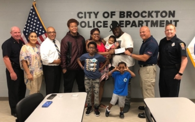 CFKWC goes to Brockton Police Department to Donate to 9-Month-Old