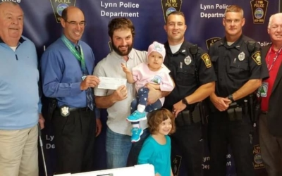 CFKWC Joined Lynn Police Department in Making Donation to 2 year Vaughn Shadoff