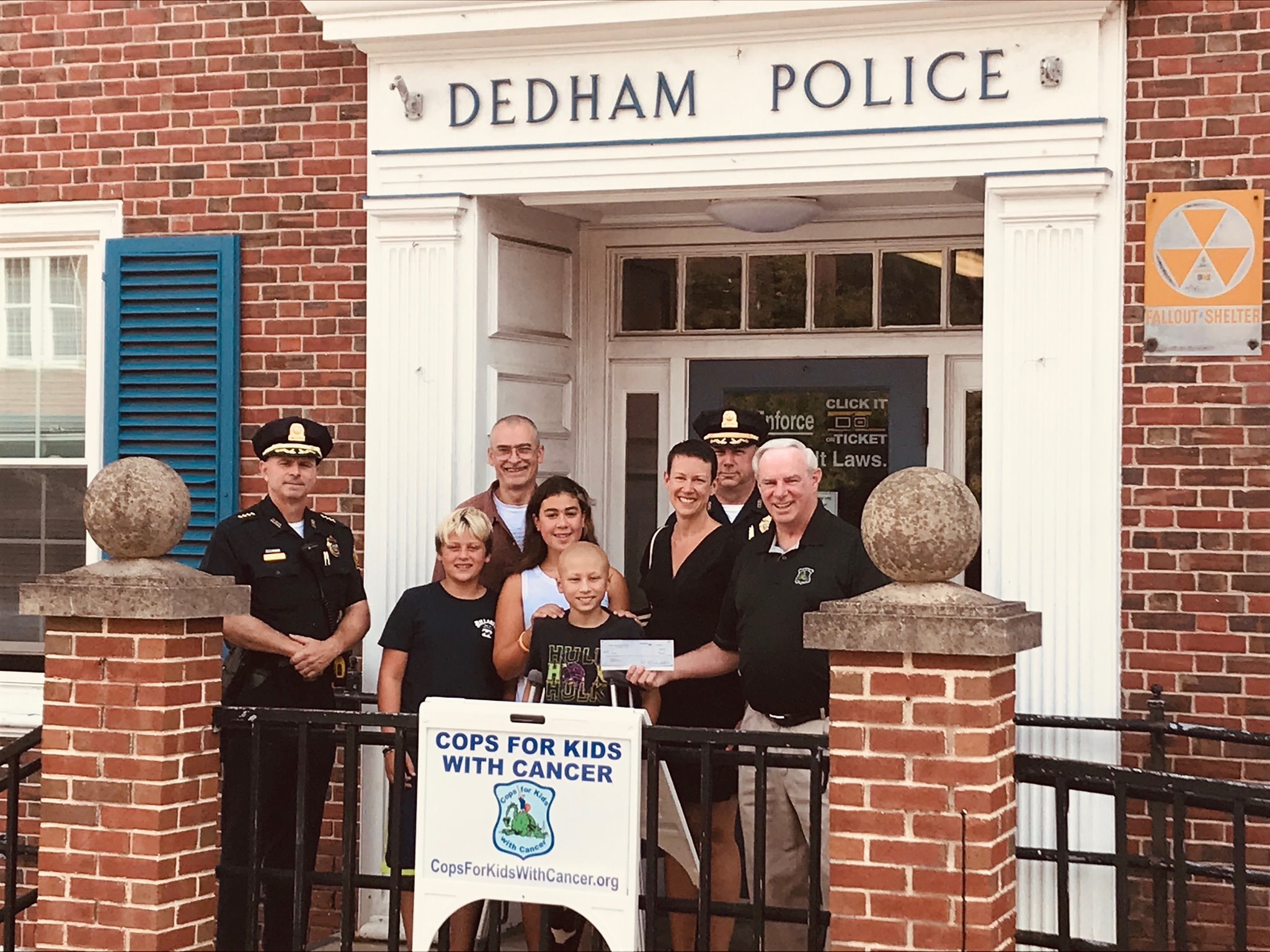 CFKWC Goes to Dedham Police Department To Make Donation to Gabriel Santos and Family.
