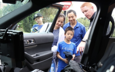 Andover High School freshman Kevin Kang, 15, and his family met with police as part of Cops With Kids For Cancer.