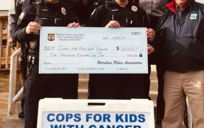 Wareham Police Department Presents $6,000.00 Donation From Their Recent Golf Tournament