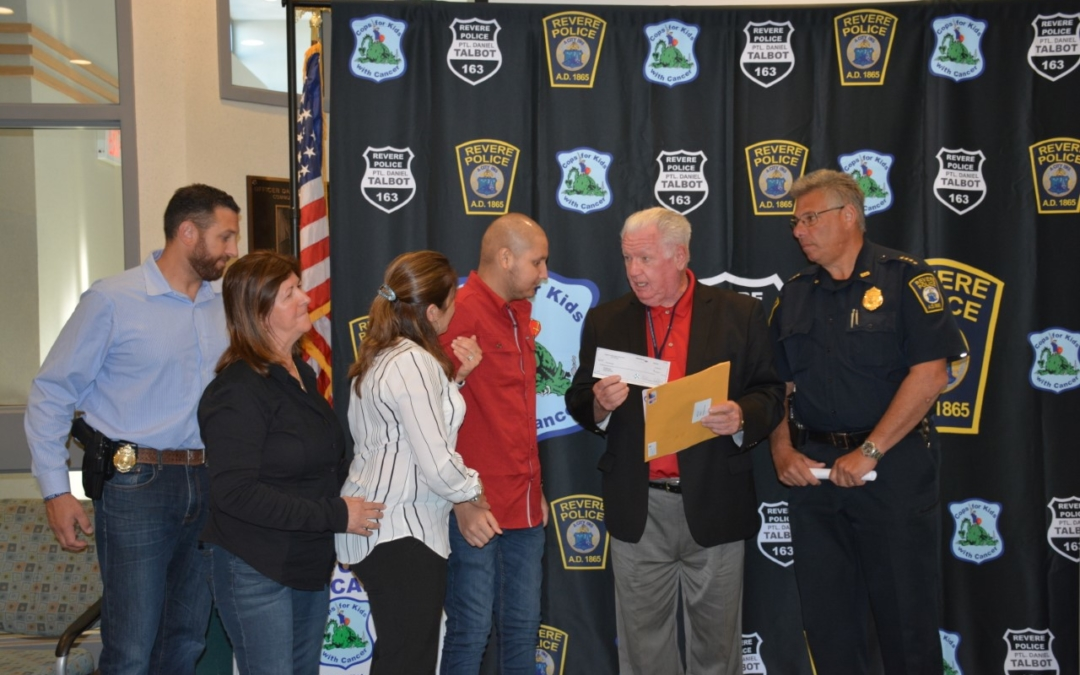 Revere Police Station and CFKWC Deliver Donation To 18-Year-Old Carlos Medieta