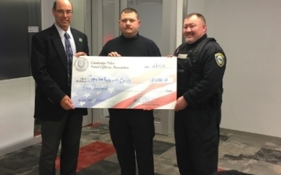 Cambridge Police Patrol Officers Association makes a $4,000.00 donation to CFKWC