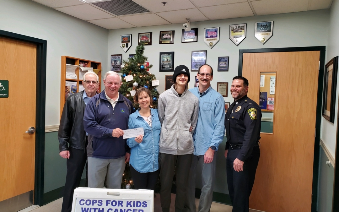 CFKWC went to Lancaster Police Department to make a donation to 16 year old Nathan Poch and his family.