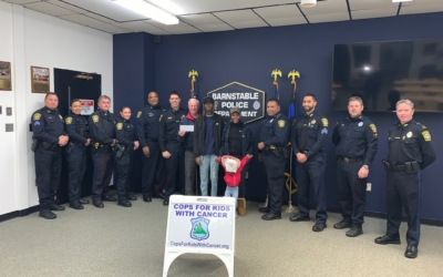 CFKWC goes to Barnstable PD to make a donation to 16 yr old, Tyler Satchell and his family