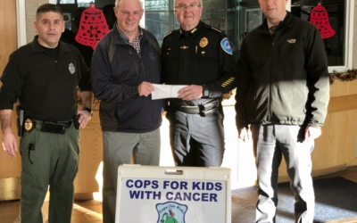 CFKWC Accepts $2,825 Donation from Weymouth PD Chief Grimes and Officers for NSN 2019