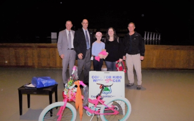 CFKWC goes to the Westfield Middle School to make donation to 12 year old Clara Hubbard