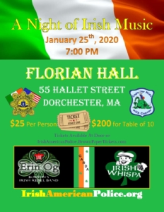 A Night of Irish Music @ Florian Hall | Boston | Massachusetts | United States