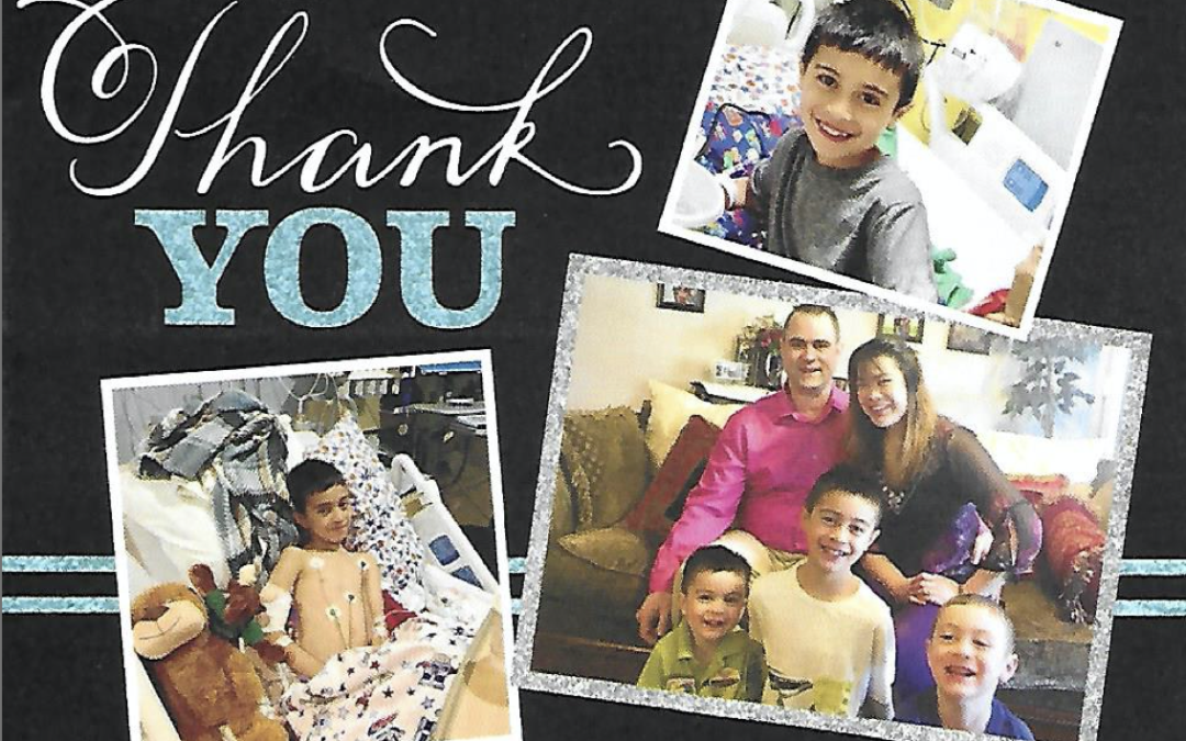 CFKWC presented Daniel (DJ) Bordonaro, 10 yrs, and his parents Dan & Mae