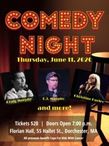 Comedy Night - Christine Hurley, Graig Murphy & E.J. Murphy @ Florian Hall | Boston | Massachusetts | United States