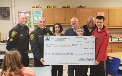 CFKWC goes to Litchfield, NH. Police Department to make a donation to 13 year old Addison Norton