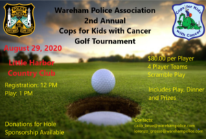 Wareham Police Association 2nd Annual CFKWC Golf Tournament @ Little Harbor Country Club