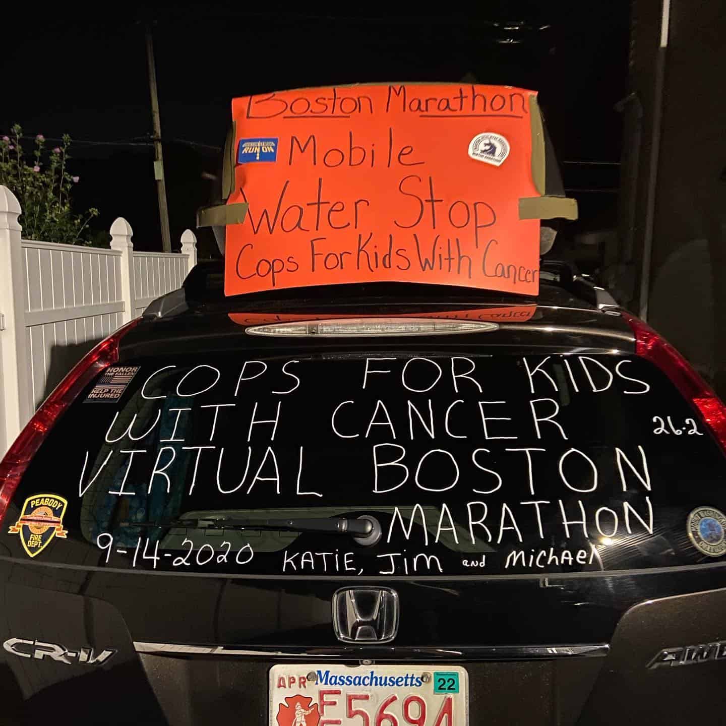 Shout Out to Katie Tracia of the Peabody Police Marathon Team
