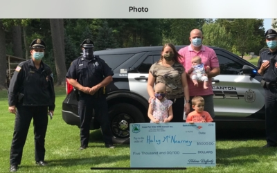 CFKWC and Canton PD make Donation to the McNearney Family