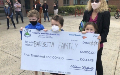 Barbetta Family Accepts $5,000 Check From CFKWC in Beverly
