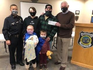 CFCWC went to the New Bedford, PD to give $5,000.00 donation to 5 year old Sydney and family