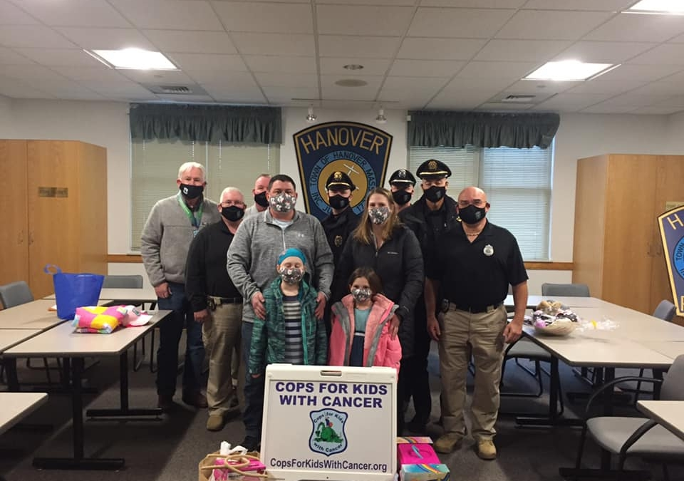 Check donation made to 8 year old Caiya with the Hanover PD