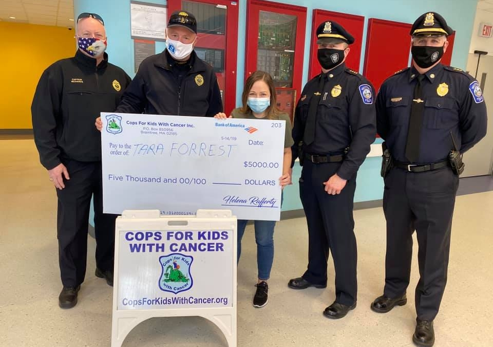 CFKWC Donation with Peabody PD to Ali Pantoja at Tufts Children's Hospital