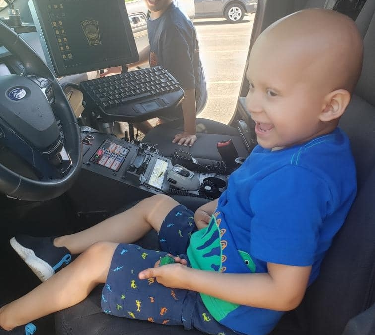 WPD enjoyed a special visit from 4 year-old Emmanuel, a Walpole boy who is courageously battling a form of childhood cancer.